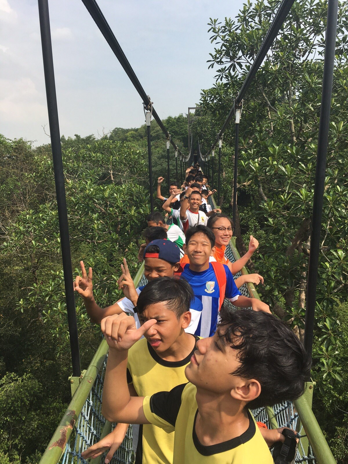 Youths are taught the importance of setting goals and developing a positive attitude during the MacRitchie Tree Top Walk.